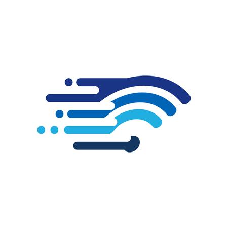 wireless Speed Logo Icon Design