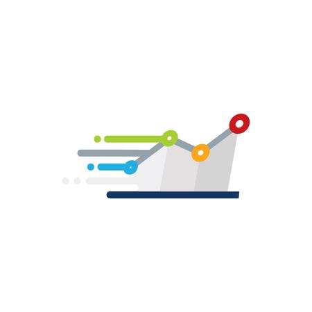 Stats Speed Logo Icon Design