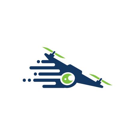 Drone Speed Logo Icon Design