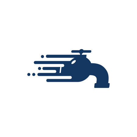 Plumbing Speed Logo Icon Design