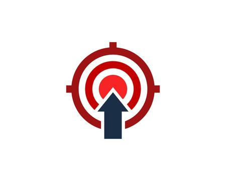 Upload Target Logo Icon Design Ilustrace