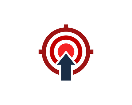 Upload Target Logo Icon Design Stock Illustratie
