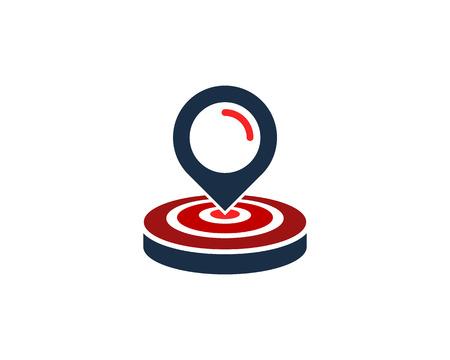 Suchen Sie das Design des Ziellogo-Symbols Logo