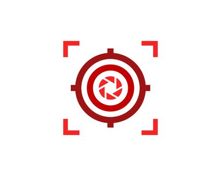 Lens Target Logo Icon Design Vectores