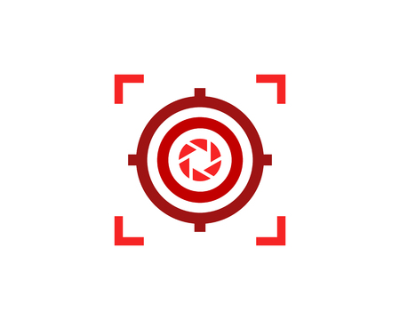 Lens Target Logo Icon Design Illustration