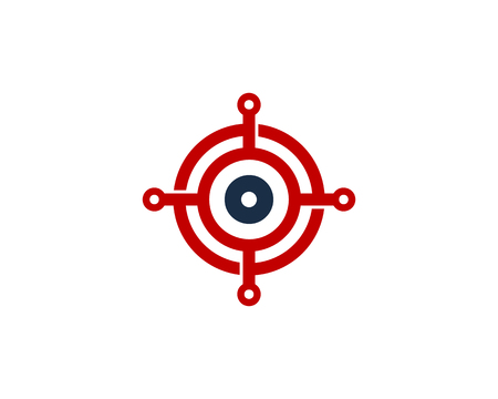 Tech Target Logo Icon Design Stock Illustratie