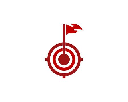 Outdoor Target Logo Icon Design Stock Illustratie