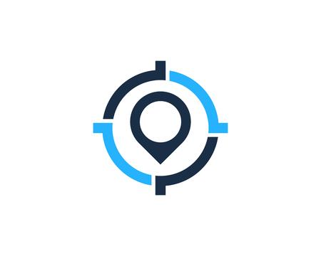 Pushpin Target Logo Icon Design Stock Illustratie