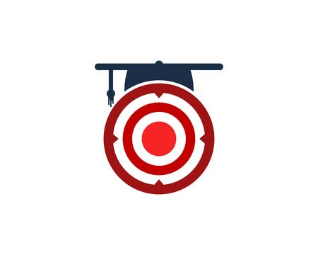 Education Target Logo Icon Design Ilustrace
