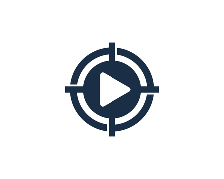 Media Target Logo Icon Design