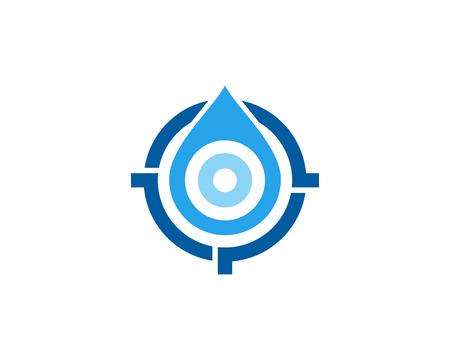 Water Target Logo Icon Design Иллюстрация