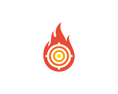 Fuego de destino diseño del icono del logotipo Foto de archivo - 102101385