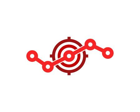 Stats Target Logo Icon Design
