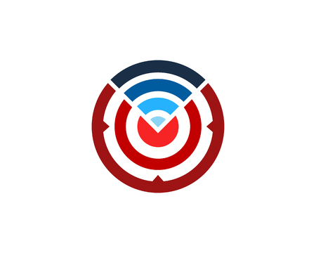 wireless Target Logo Icon Design