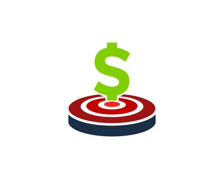 Money Target Logo Icon Design