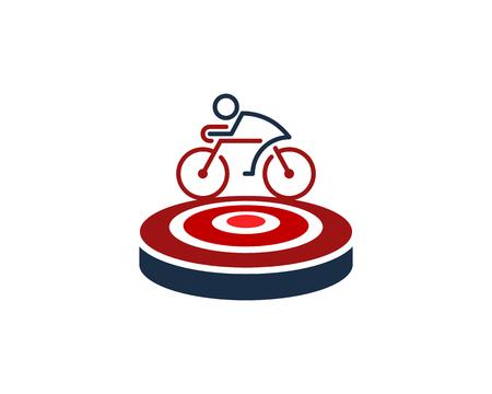 Bike Target Logo Icon Design