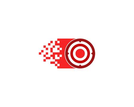 Pixel Target Logo Icon Design