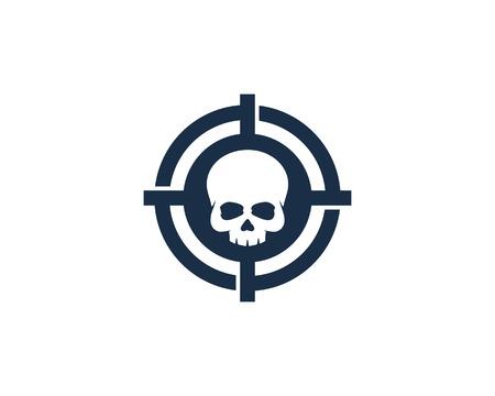 Skull Target Logo Icon Design