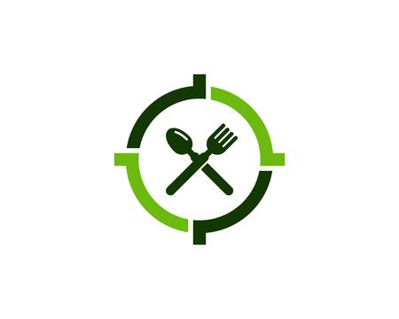 Food Target Logo Icon Design Banque d'images - 102101471