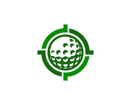 Golf doel embleemontwerp pictogram