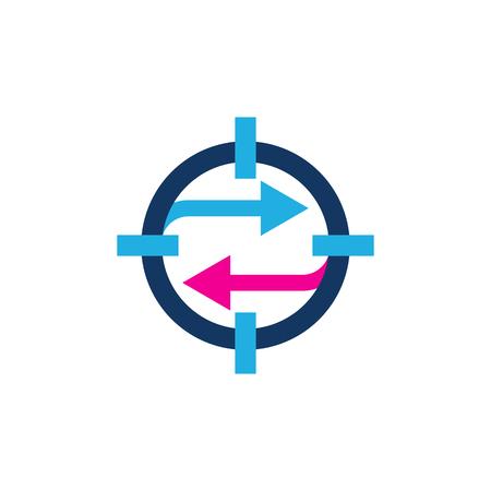 Transfer Target Logo Icon Design Stock Vector - 102229837