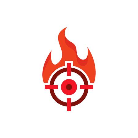 Burn Target Logo Icon Design