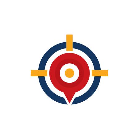 Pin Target Logo Icon Design