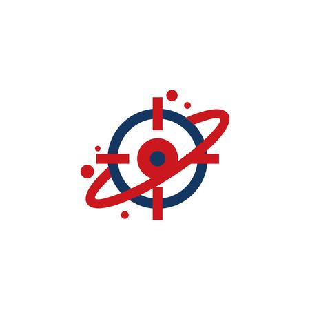 Planet Target Logo Icon Design