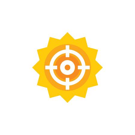 Sun Target Logo Icon Design