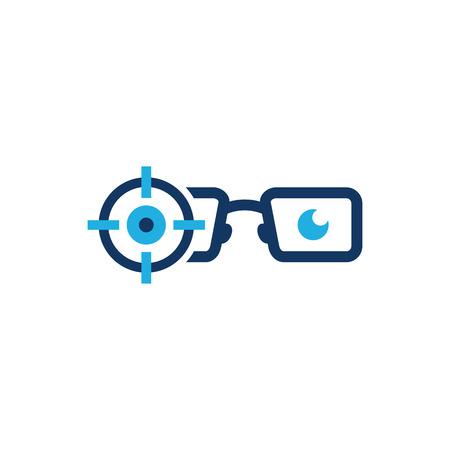 Geek Target Logo Icon Design