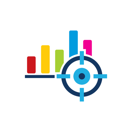 Graph Target Logo Icon Design