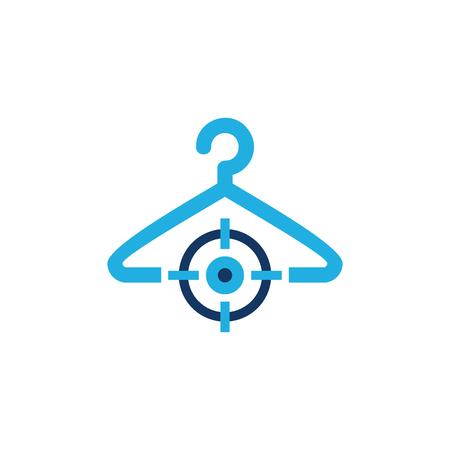 Laundry Target Logo Icon Design Illustration