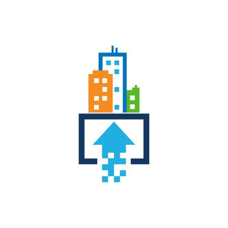 Upload Town Logo Icon Design