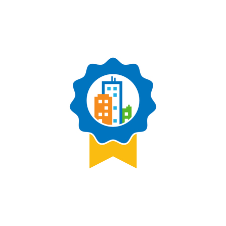 Best Town Logo Icon Design Иллюстрация