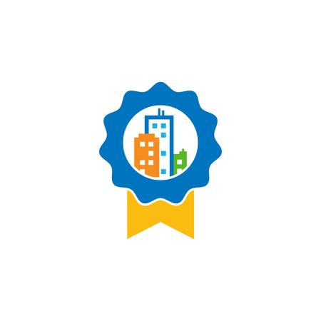Best Town Logo Icon Design Illustration
