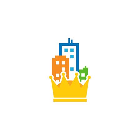 King Town Logo Icon Design