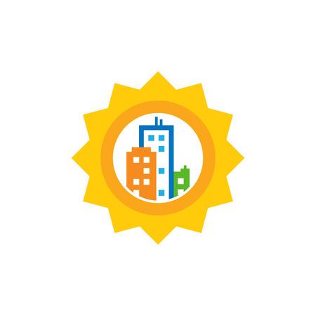 Sun Town Logo Icon Design