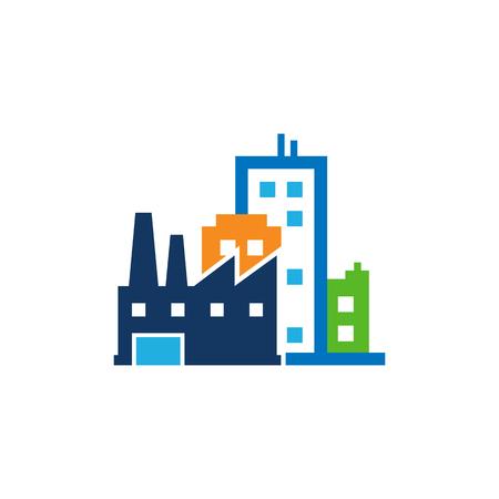 Factory Town Logo Icon Design