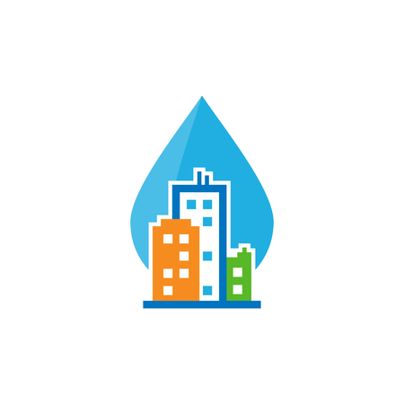 Water Town Logo Icon Design