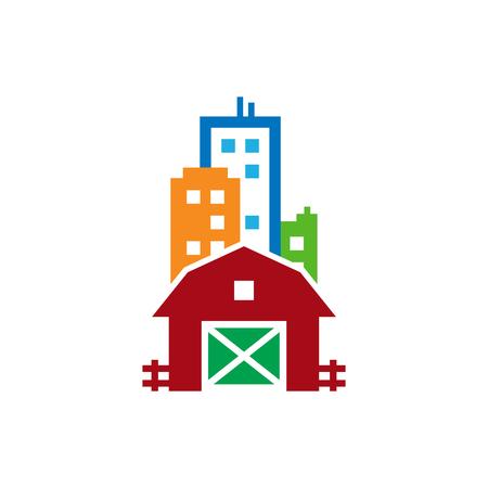 Farm Town Logo Icon Design