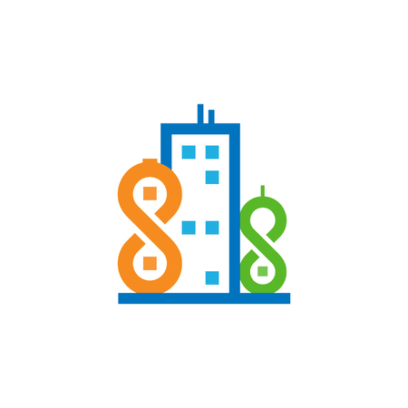 Infinity Town Logo Icon Design Stock Illustratie