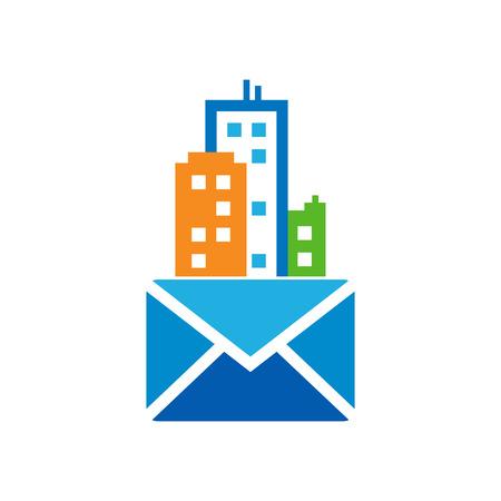 Mail Town Logo Icon Design