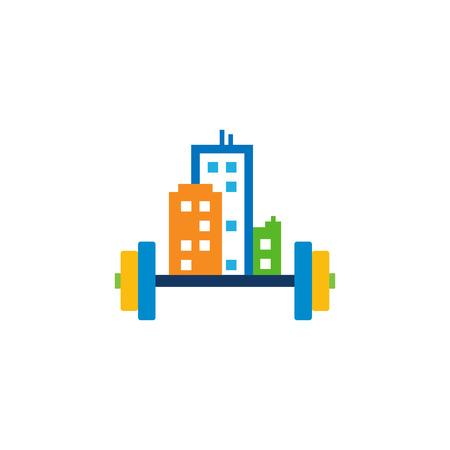 Barbell Town Logo Icon Design