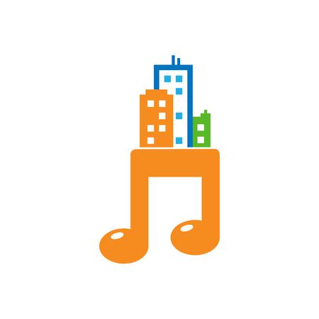 Music Town Logo Icon Design