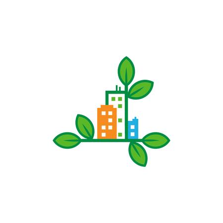 Nature Town Logo Icon Design