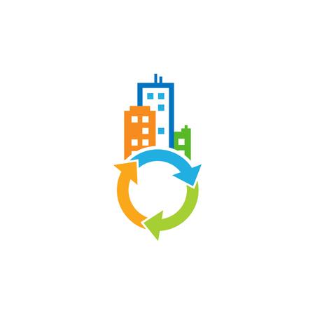 Recycle Town Logo Icon Design