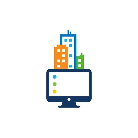 Computer Town Logo Icon Design