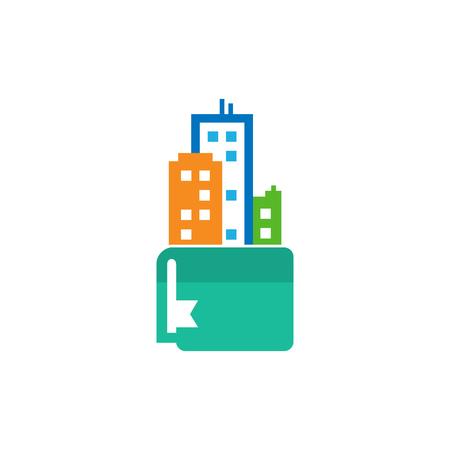Book Town Logo Icon Design