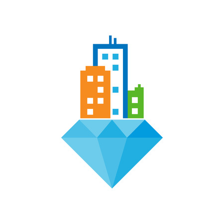 Diamond Town Logo Icon Design