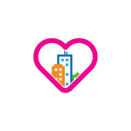 Love Town Logo Icon Design